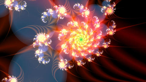 Fractal similar to a flower Stock Video Footage