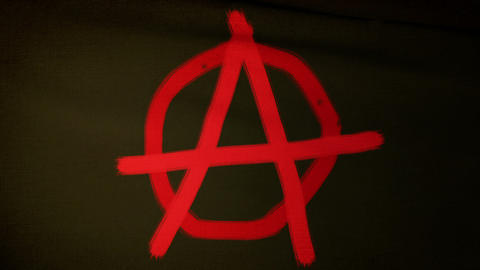 Anarchist Flag 04 Stock Video Footage