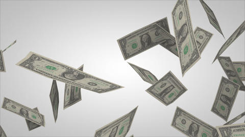 Dollar bills flying Stock Video Footage