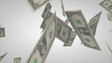 Dollar bills flying Animation