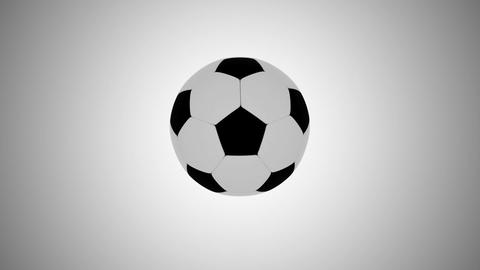 3D Soccer Ball - Short Version - Loop With Matte Stock Video Footage