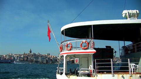 Bosphorus ship b Stock Video Footage
