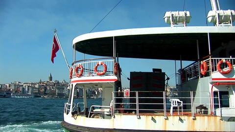 Bosphorus ship b Stock Video Footage