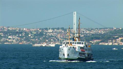Bosphorus ship Stock Video Footage