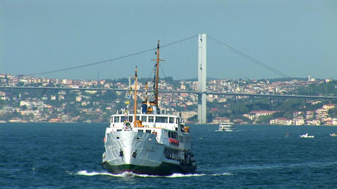 Bosphorus ship Stock Video Footage