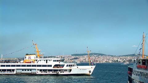 Bosphorus ships b Stock Video Footage