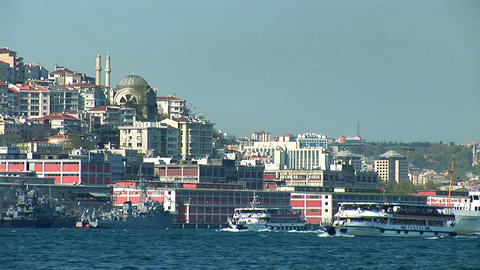 Bosphorus ships d Stock Video Footage