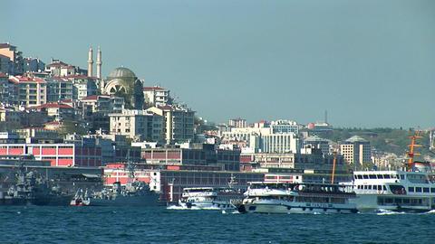 Bosphorus ships d Stock Video Footage