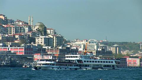 Bosphorus ships d Footage