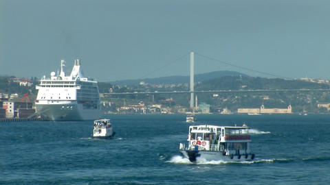 Bosphorus trafic c Stock Video Footage