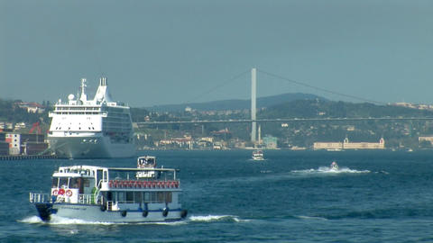 Bosphorus trafic c Stock Video Footage