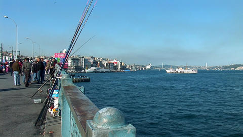 fishing rods Stock Video Footage
