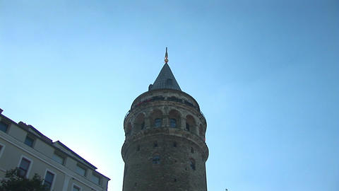 Galata Tower in Istanbul -a Stock Video Footage