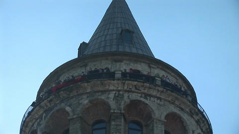 Galata Tower in Istanbul -a Footage