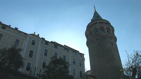 Galata Tower in Istanbul -c Stock Video Footage
