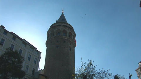 Galata Tower in Istanbul -c Footage
