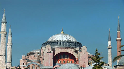 Aya Sofya (Hagia Sophia) b Stock Video Footage