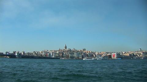 Istanbul Bosphorus b Stock Video Footage