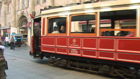 Old tram Stock Video Footage