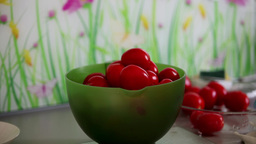 Bowl dry tomatoes Stock Video Footage