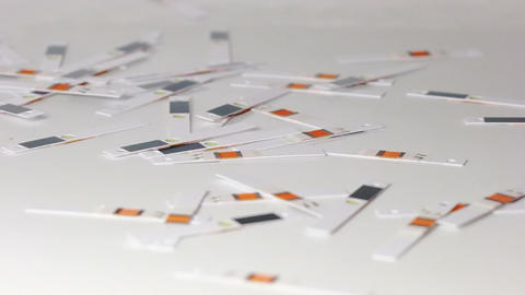 Test strips are scattered Stock Video Footage