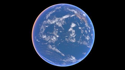 Earth turn around 01 Stock Video Footage