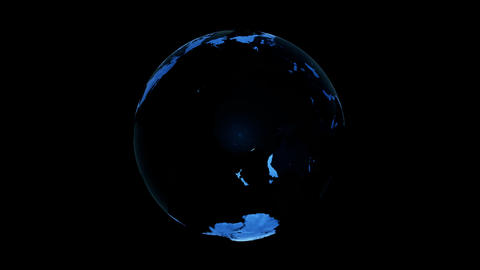 Earth turn around 05 Stock Video Footage