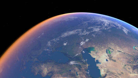 Earth zoom Europe 01 Stock Video Footage