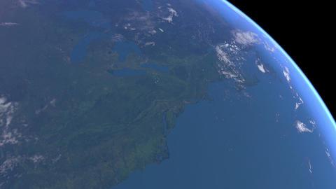 Earth USA sunrise 01 Stock Video Footage