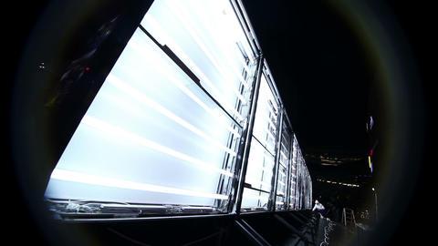 Display lights turn on (2nd. angle) Stock Video Footage