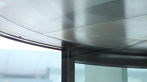 Revolving door in the office building Stock Video Footage