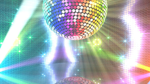 Mirror Ball 2 x 1 LB 01 HD Stock Video Footage
