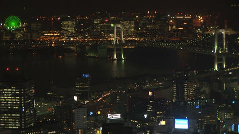 Night view of Tokyo Stock Video Footage