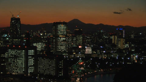 Tokyo at dusk Stock Video Footage