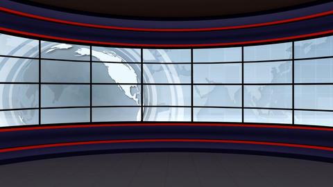 News TV Studio Set 100 - Virtual Background Loop Live Action