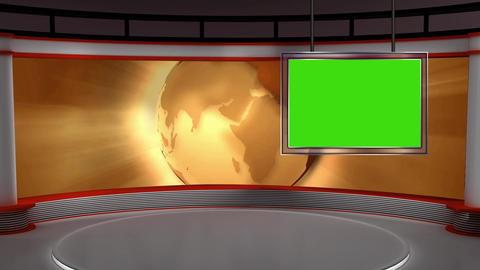 News TV Studio Set 103 - Virtual Background Loop Footage