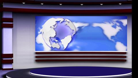 News TV Studio Set 108 - Virtual Background Loop Live Action