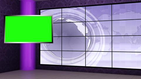 News TV Studio Set 109 - Virtual Background Loop Live Action
