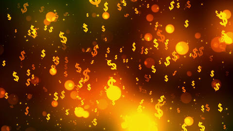 Dollar Fall 3 Loopable Background Animation