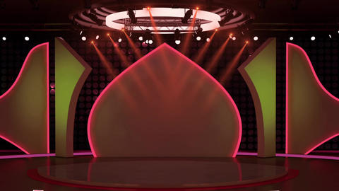 Entertainment TV Studio Set 30-Virtual Background Loop ライブ動画