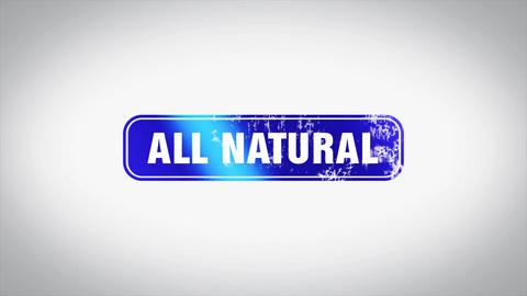 ALL NATURAL Word 3D Animated Wooden Stamp Animation Animation