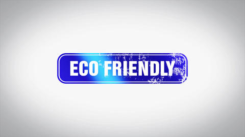 Eco friendly Word 3D Animated Wooden Stamp Animation Animation