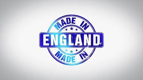 Made in England Word 3D Animated Wooden Stamp Animation Animation