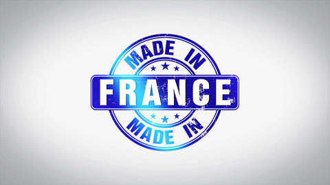 Made in France Word 3D Animated Wooden Stamp Animation Animation