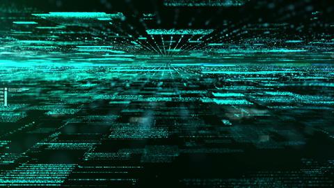 Digital Abstract Matrix Particles Animation