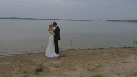 Young, cheerful newlyweds enjoying the honeymoon Live Action