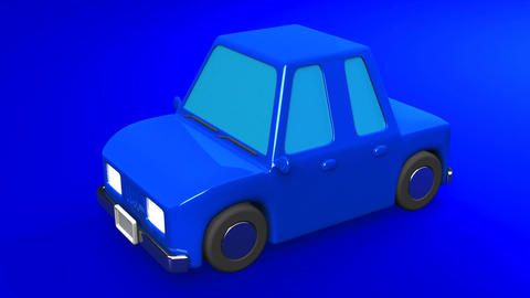 Blue Car On Blue Background Animation