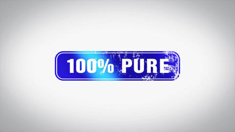 100% pure Word 3D Animated Wooden Stamp Animation Animation