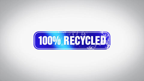 100% Recycle Word 3D Animated Wooden Stamp Animation Animation