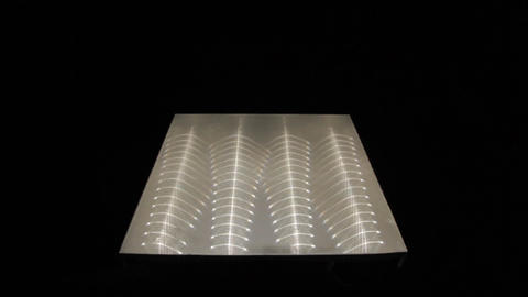 Motion down Past Modern Economical Square White Light LED Panel Footage